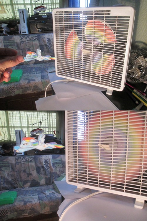 IRL,twenty percent cooler,fans,rainbow dash