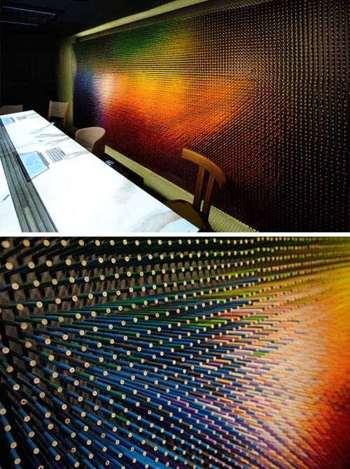 These Colored Pencils Make for a Fabulous Wall