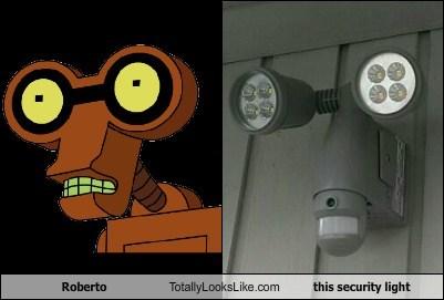roberto,lights,totally looks like,robots,futurama