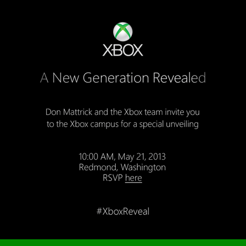 The Next Generation of Xbox Will Be Revealed May 21