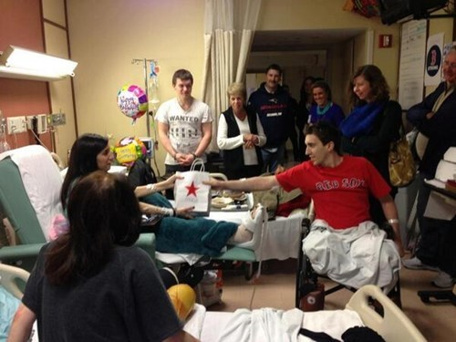 A Boston Bombing Victim Gives a Birthday Present to Another