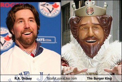 R.A. Dickey Totally Looks Like The Burger King