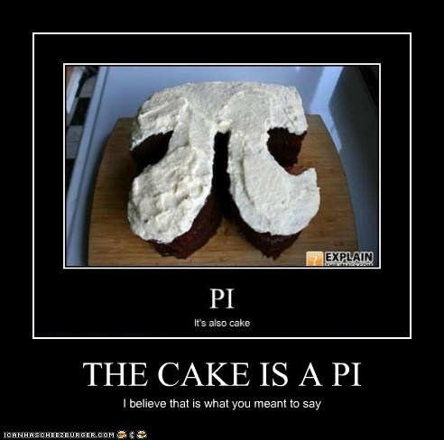 THE CAKE IS A PI
