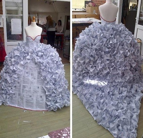 Art Student Makes Wedding Dress Out of Divorce Papers