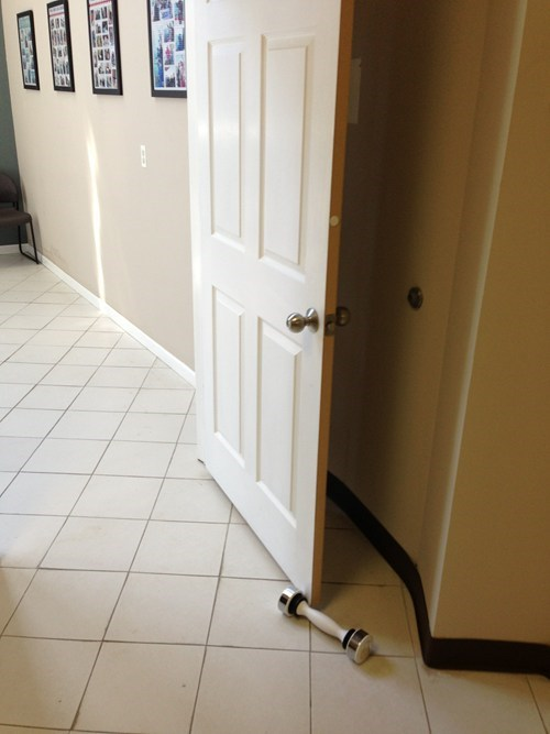 shake weight,door stop,funny,there I fixed it