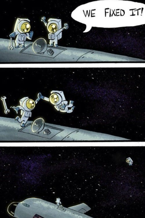comic,high five,space