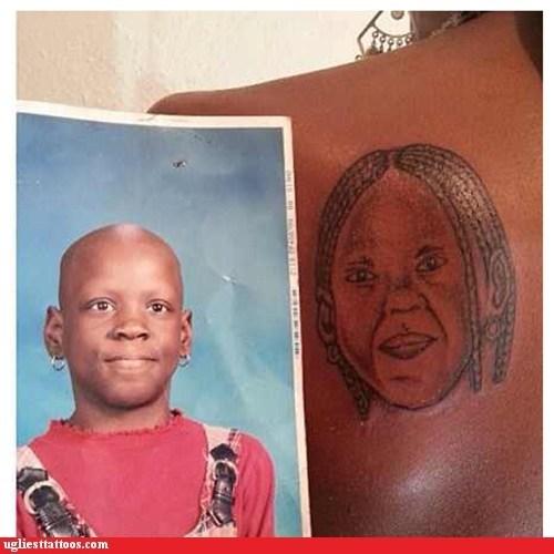 hair,back tattoos,portrait tattoos