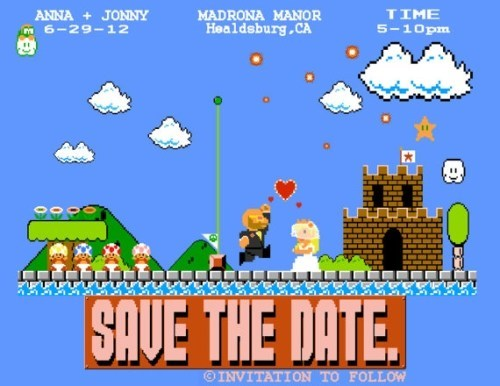 save the date,video games,mario