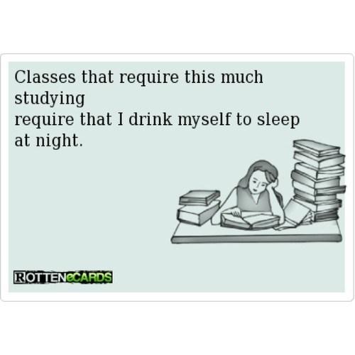 studying,rotten ecards,sleeping