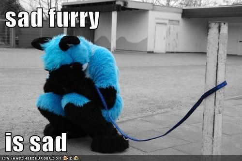sad furry  is sad