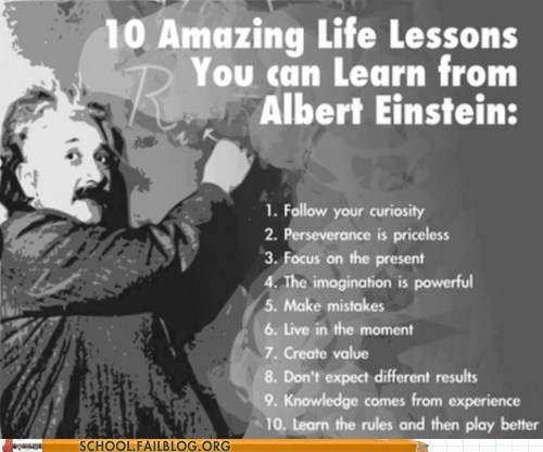 Einstein Was a Solid Teacher