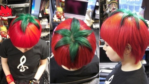 hair,tomatoes,dye,poorly dressed,g rated