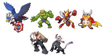 The Pokevengers in Sprite Form