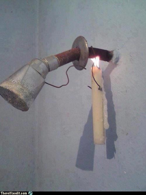 fix it,shower,candle,shower head