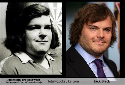 Jock Wilson, The Two Times World Professional Darts Champion Totally Looks Like Jack Black
