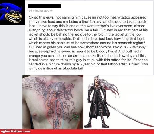 sephiroth,facebook,chest tattoos
