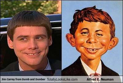 Jim Carrey from Dumb and Dumber Totally Looks Like Alfred E. Neuman