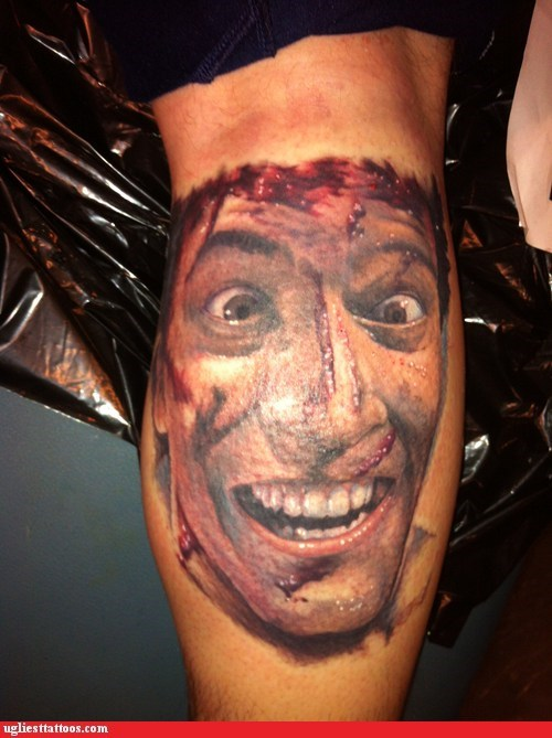 I Wonder if Bruce Campbell Reimburses for Badass Evil Dead Tattoos?