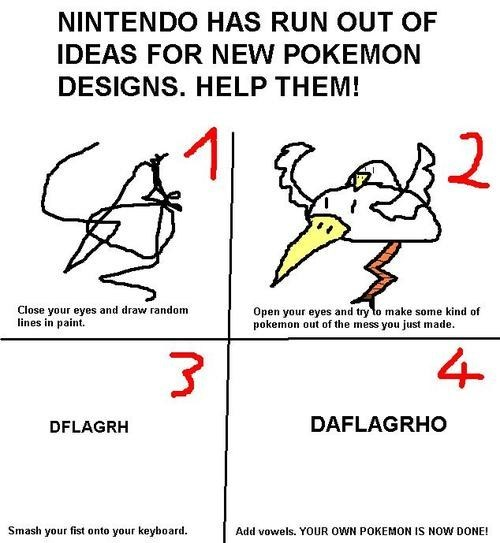 Pokémon,ms paint,do it yourself,Game Freak,nintendo