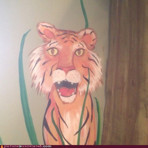 Scary tiger... but in a different way