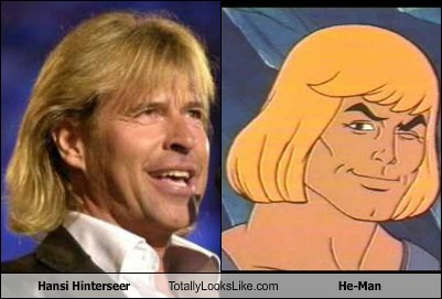 Hansi Hinterseer Totally Looks Like He-Man