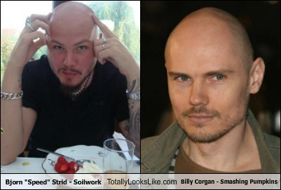 "Bjorn ""Speed"" Strid From Soilwork Totally Looks Like Billy Corgan"