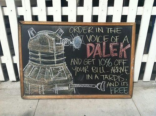 dalek,sign,nerdgasm,doctor who,business,g rated,win
