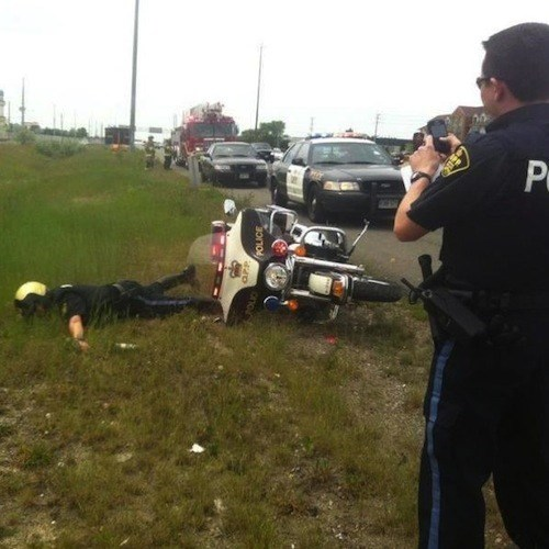 Minus Three Points for the Dismount, Officer