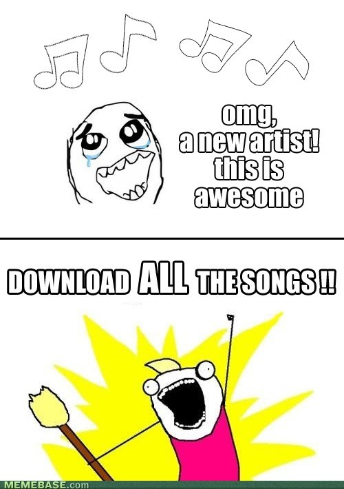 Every time I discover a new artist I like