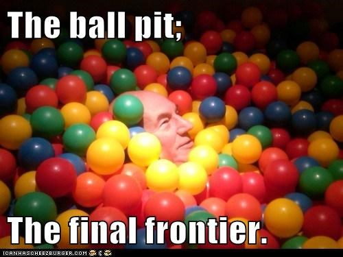 The ball pit;  The final frontier.