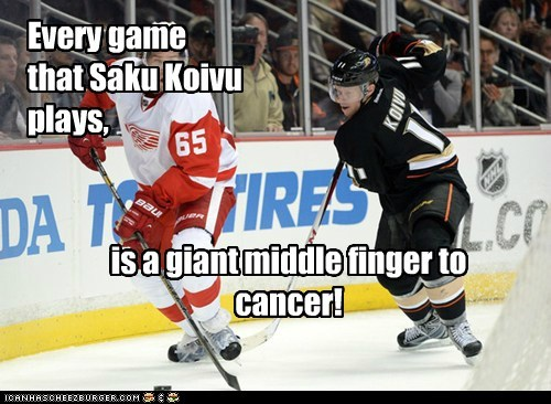 Every game that Saku Koivu plays,