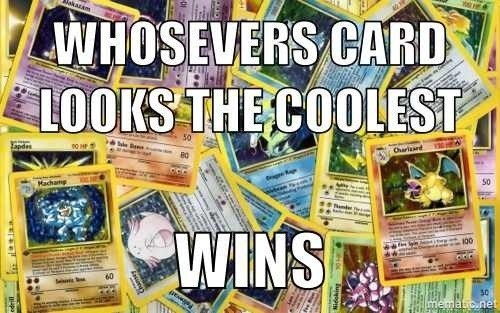 Didn't People Collect Pokémon Cards Just Cause They Looked Cool?