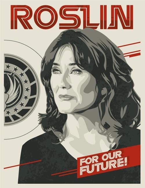 laura roslin,fan art,Battlestar Galactica
