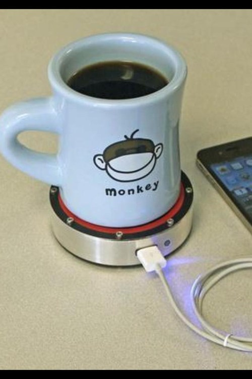 With This Dongle You Can Charge Your Phone With Your Coffee!