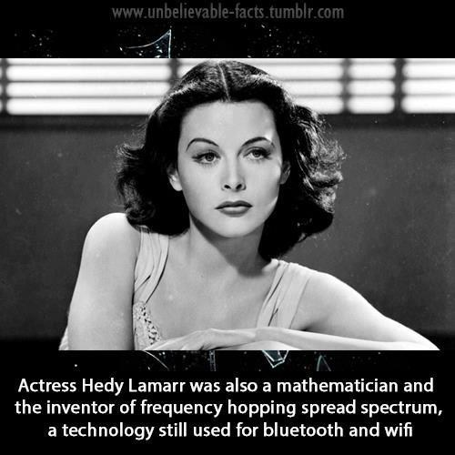 Hedy Lamarr Invented Things?
