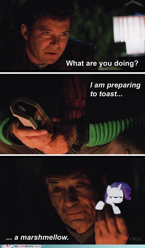 marshmallows,rarity,Star Trek,funny
