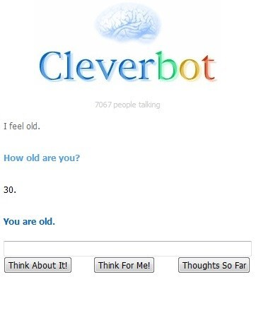 Thanks, Cleverbot