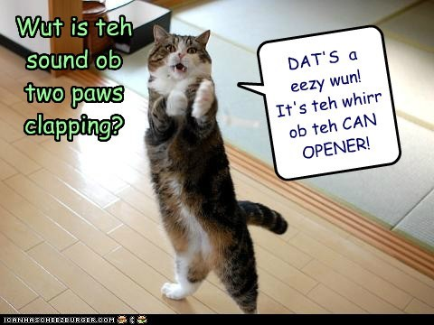 clapping,can opener,toona