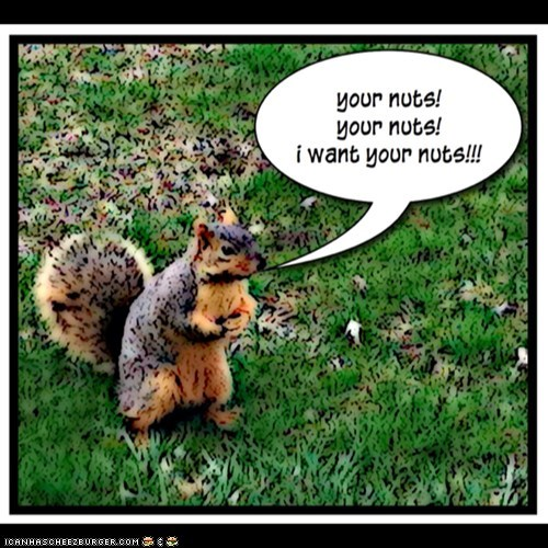 your nuts!