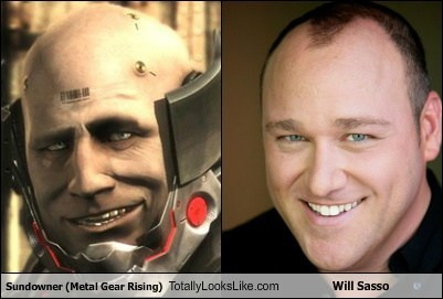 Sundowner (Metal Gear Rising) Totally Looks Like Will Sasso