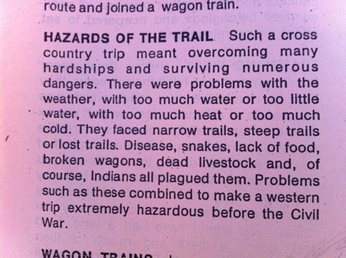 class,assignment,difficult,oregon trail,funny