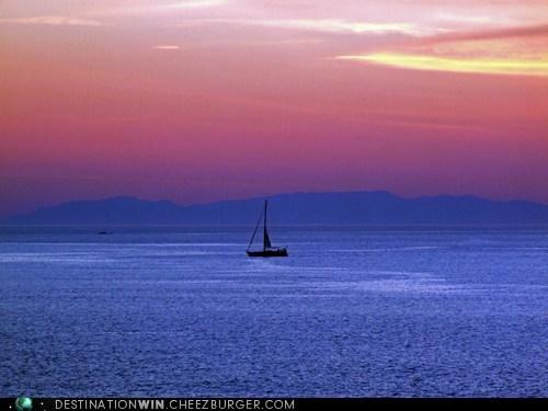 Sailing in the Aegean Sea