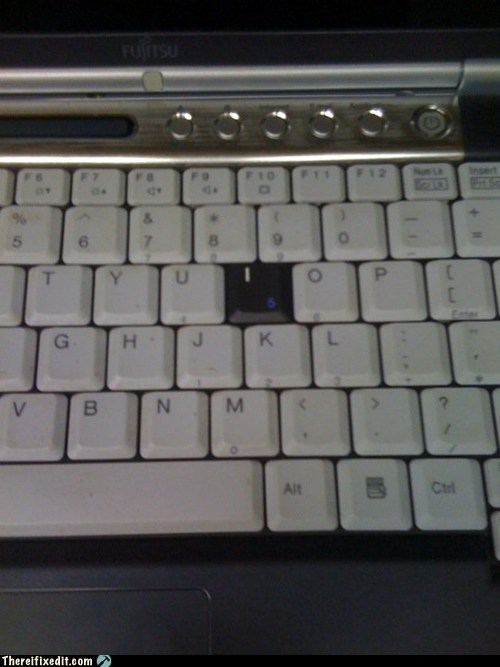 computers,ocd,keyboard,g rated,funny,there I fixed it