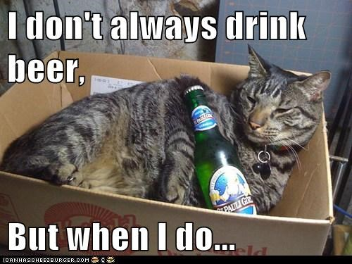 I don't always drink beer,  But when I do...