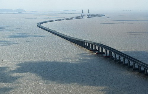 China's .Donghai Bridge, One of the Longest in the World
