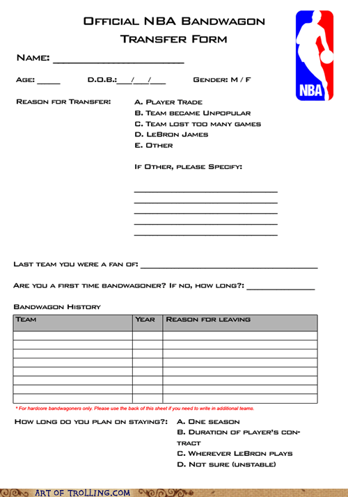 A Form You'll Need for the Rest of the NBA Playoffs