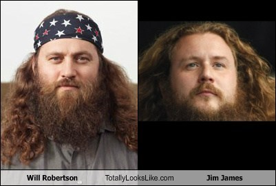 will robertson,jim james,totally looks like,beards,funny