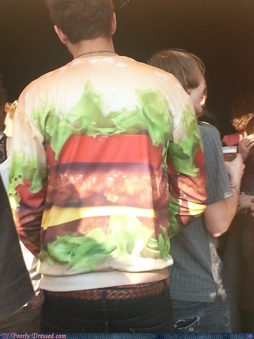 sweater,funny,hamburger,poorly dressed,g rated