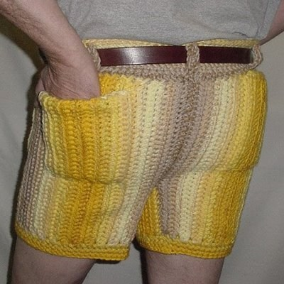 shorts,Crocheted,classic,funny,poorly dressed,g rated