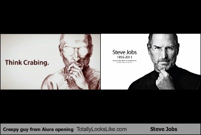 Creepy guy from Aiura opening Totally Looks Like Steve Jobs